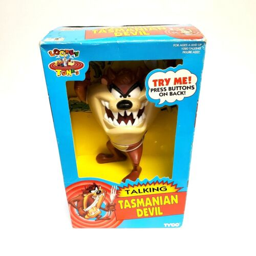 Vintage 1993 Tyco Talking Tasmanian Devil Taz VTG Looney Tunes Warner Brothers