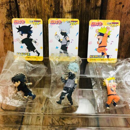 Bandai 2005 Viva 2 Naruto Mascot Figures Keychain Set of 3 Naruto,Kakashi,Sasuke