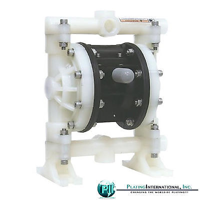 Double Diaphragm Air Pump Chemical Industrial Polypropylene 12 Or 34 Npt