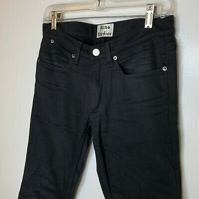 Acne Studios Mens Max Stay Cash Black Denim Jeans 28 x 28