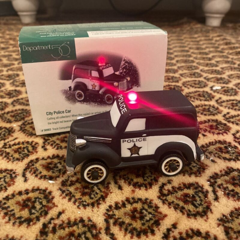 Dept 56 Christmas In The City Series City Police Car 58903 Heritage Village