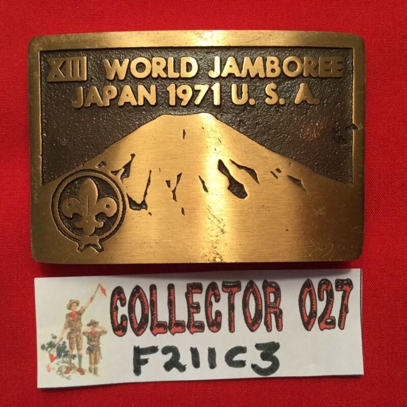 Boy Scout 1971 XIII World Jamboree Japan Max Silber Belt Buckle