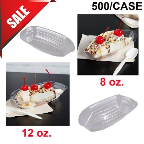PICK SIZE 500 Case Ice Cream Parlor 12 oz Clear Plastic Ice Cream Sundae Boat