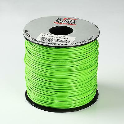 500 Spool Of Light Green 18 Gauge Primary Wire Home Automotive Free Shipping