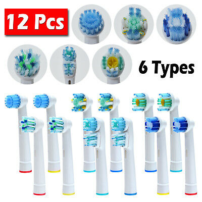 12 PCS Toothbrush Heads Substituição para Oral-B Electric Toothbrush Pro Vitalidade