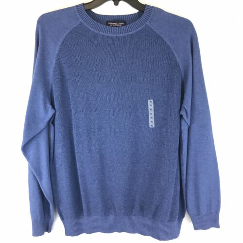 Roundtree & Yorke Men's L/S Sweater Pullover XL X-LARGE BLUE Crew Neck Clothing, Shoes & Accessories