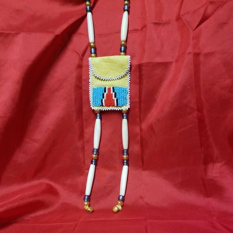 Beaded Medicine Bag With Czech Beads