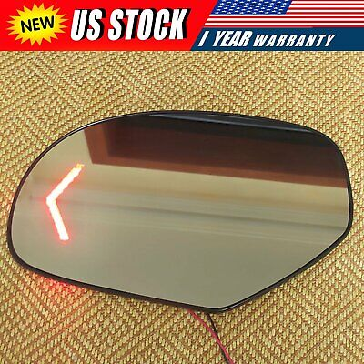 For 09-14 Chevrolet Silverado Tahoe GMC Yukon Mirror Glass Heated Signal Driver