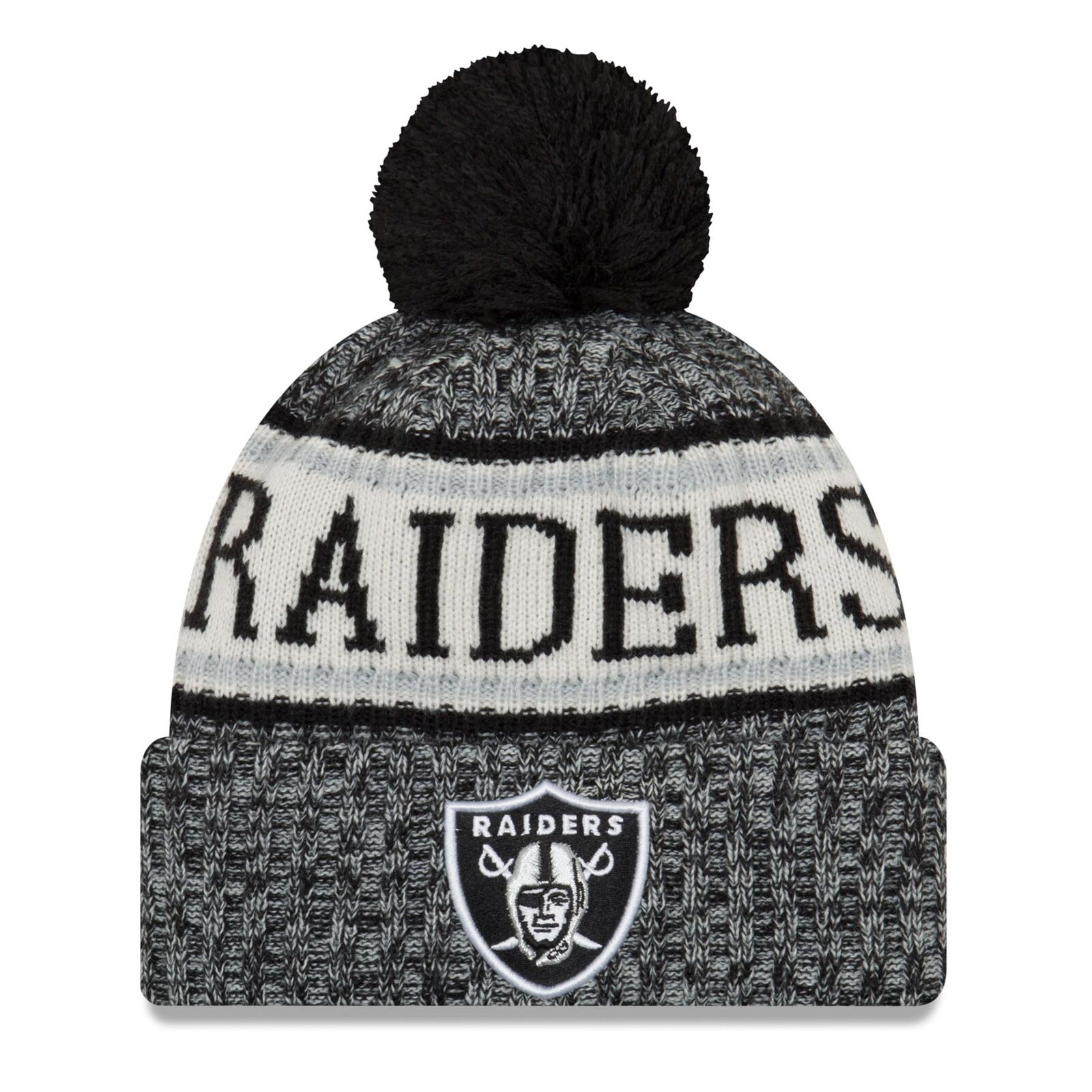 wholesale dealer 80aea 7db7e Era Oakland Raiders Black 2018 NFL Sideline Cold Weather Official ...