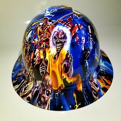 Full Brim Hard Hat Custom Hydro Dipped Iron Maiden Eddie Colage New Supersick