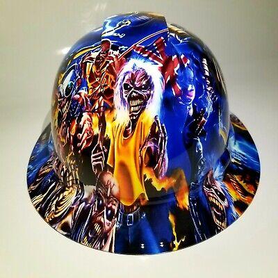 Full Brim Hard Hat Custom Hydro Dipped Iron Maiden Eddie Colage New Supersick