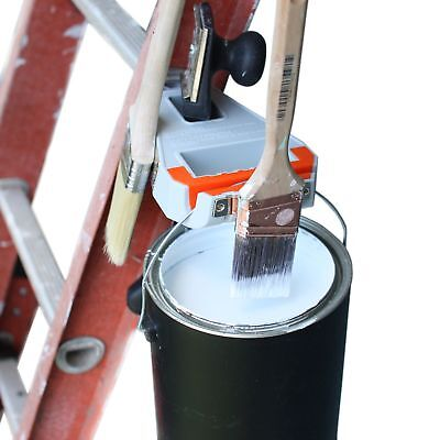 Ladder Station Pro - Paint Brush Holder And Paint Can Holder - Store Paint