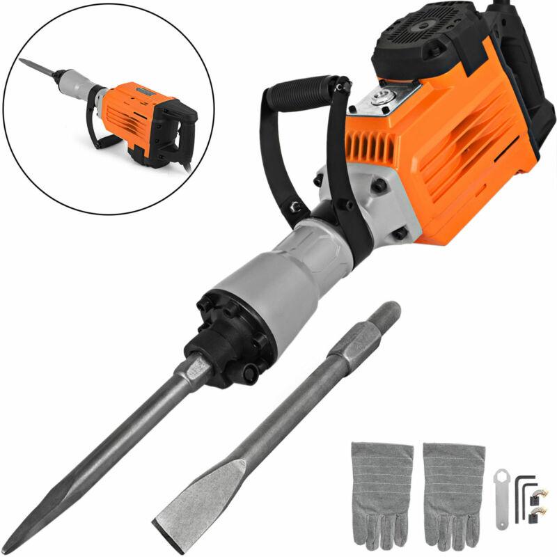3500W Electric Demolition Jack Hammer Concrete Breaker Punch 2 Chisel Bit 60J