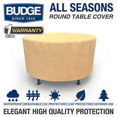 Patio Round Table Cover Outdoor Garden Furniture Dust Rain UV Protection Tan Round Furniture Cover