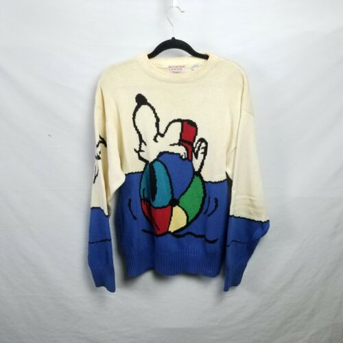 VINTAGE Snoopy And Friends By Bill Ditford Sweater  Mens Medium 100% Cotton