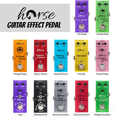 Horse Guitar Effects Pedal Mini Single True Bypass DC 9V