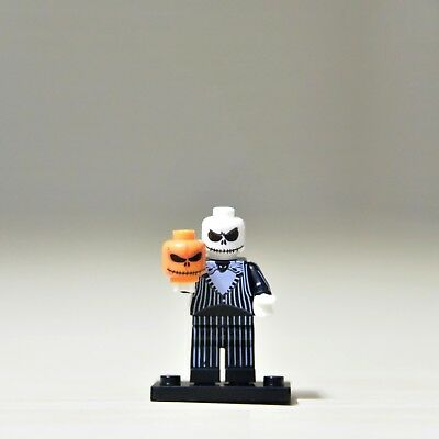 Jack Skellington - 'Pumpkin King' Halloween Town Figure For Custom Lego Mini Fig