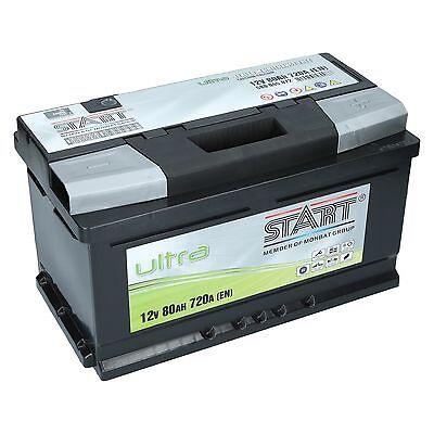 Autobatterie EXTREME 12V 80 Ah 80Ah ersetzt 74 75 77 85 90 100