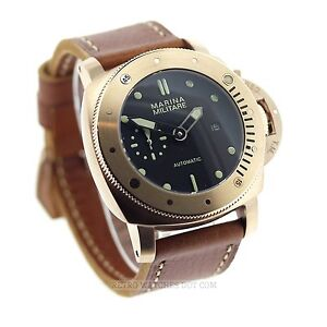 Parnis Marina Militare 47mm Submarine Automatic Watch Rose Gold PVD case