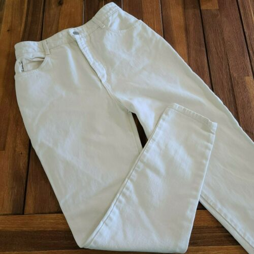 Bongo White High Waist Rise Vintage Gene Montesano Mom Jeans Womens 12 Made USA