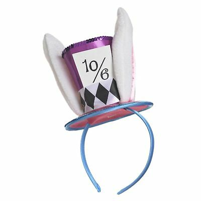 Mad Hatter Alice in Wonderland Mini Hat on Headband Womens Fancy Dress Accessory (Mad Hatter Headband)