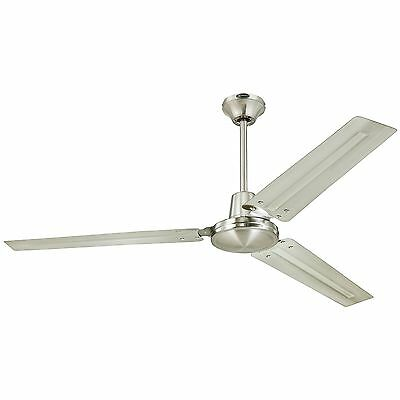 Industrial/Commercial Garage/Shop 56-Inch Ceiling Fan Box System Brushed Nickel