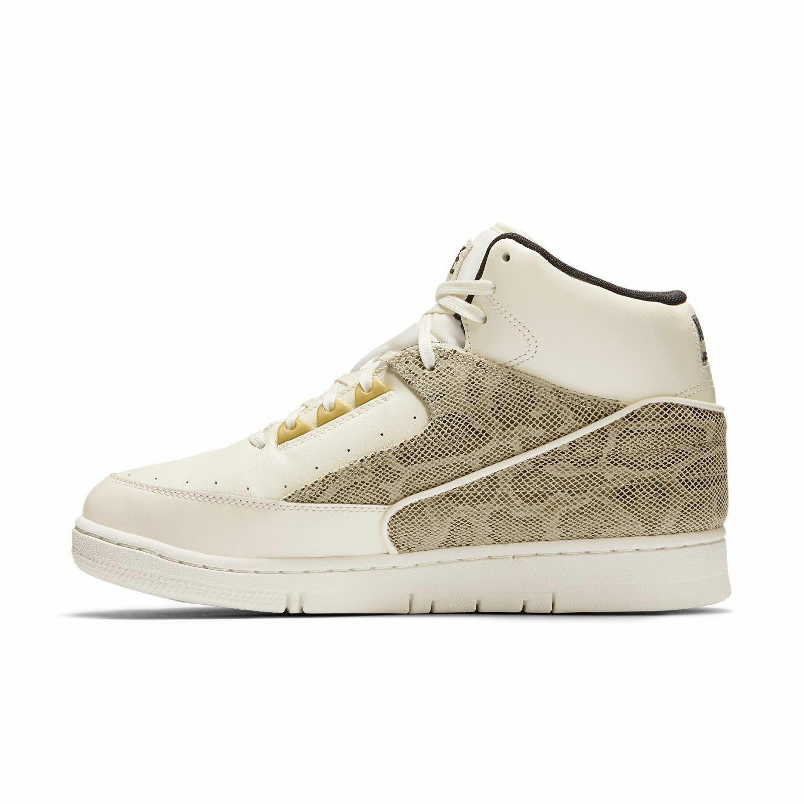 New Nike Men's Air Python Shoes (705067-100)  Sail / Metallic Gold-Black