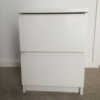 IKEA MALM Chest of 2 Drawers / Bedside Table Melbourne Region Preview