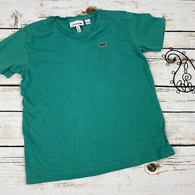 Lacoste 6 Boys Shirt Green T-shirt Short Sleeve