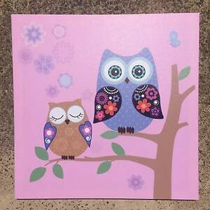 PINK OWL WALL DECORATIVE CANVAS Pagewood Botany Bay Area Preview