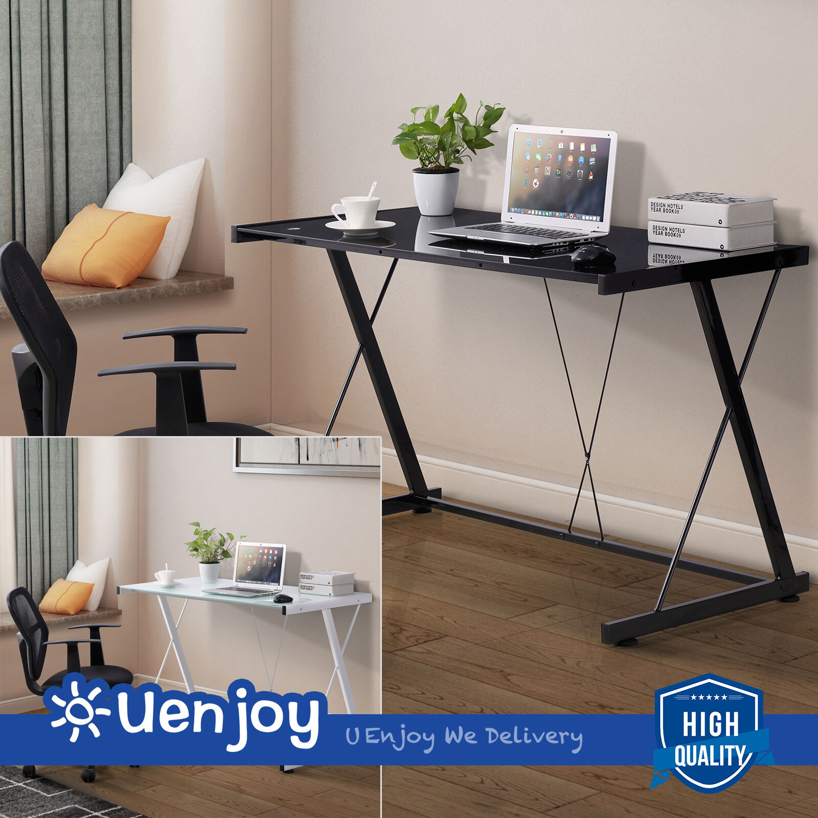 top quality office desk workstation.  Top New PC Laptop Glass Table Computer Desk Workstation Office Home Furniture Throughout Top Quality I