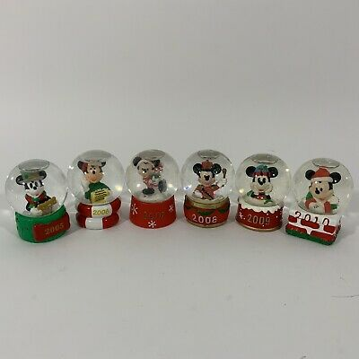 Disney JCPenney Mickey Mouse Collectible Christmas Mini Snow Globes 2005 To 2010