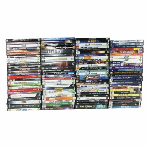 Computer Games - Lot of 100 PC Games Bulk Wholsale Computer Video Games Reseller