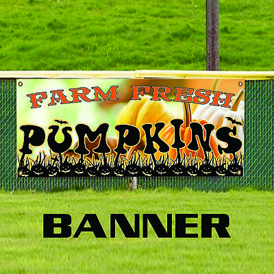 Farm Fresh Halloween Pumpkins For Sale Retail Shop Advertising Vinyl Banner Sign](Halloween Retail Sales)