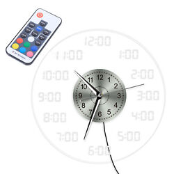 Large Acrylic LED Digital USB Clock Wall Mult colors w/  Remote Controller