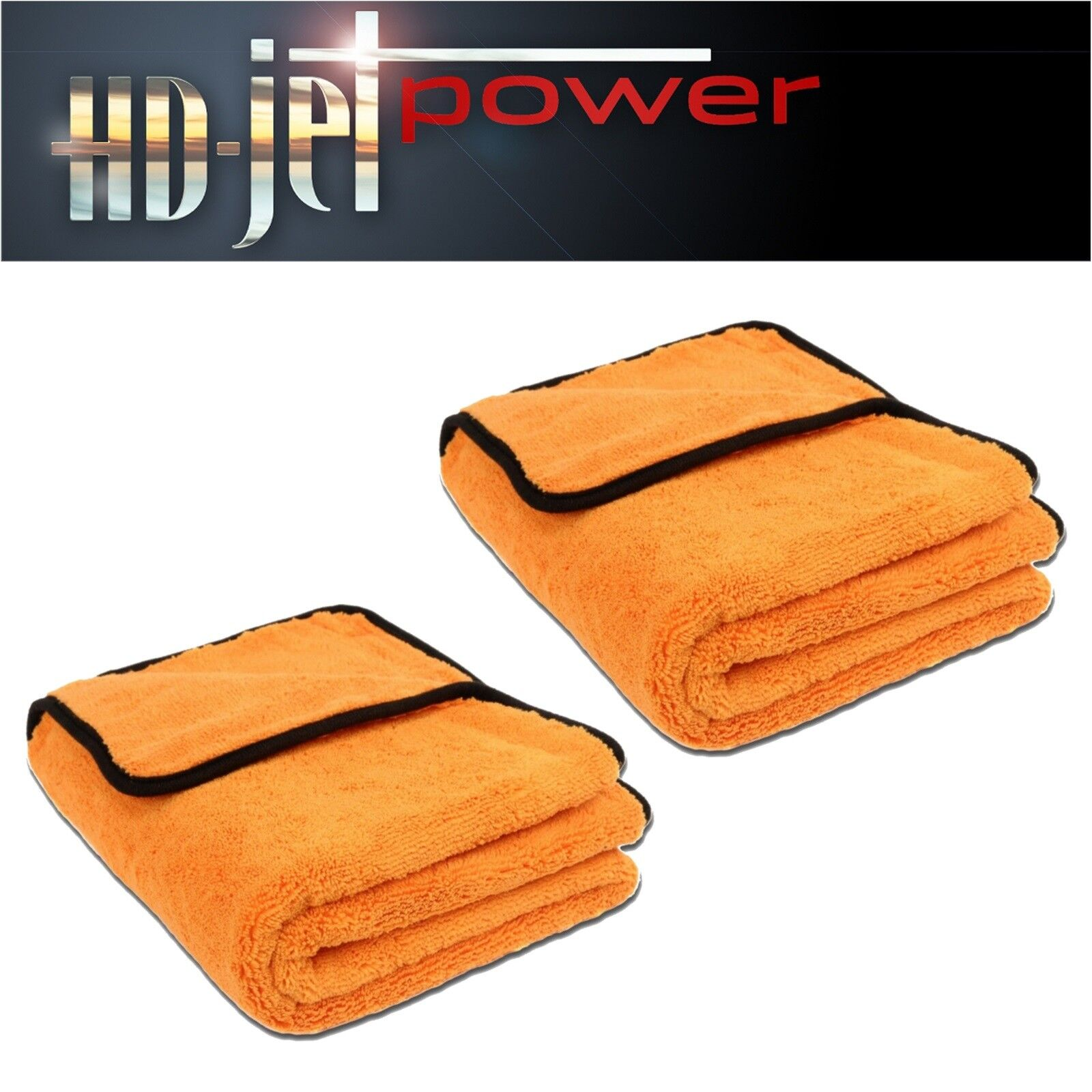 Liquid Elements Orange Baby XL Mikrofaser Trocken Tuch 90x60cm Extrem saugstark