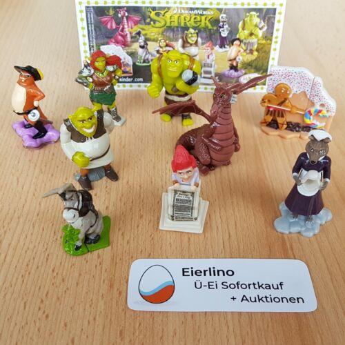 """TOP KINDER SURPRISE SET - Shrek Forever After - MINT CONDITION 1.3"""" figurines"""
