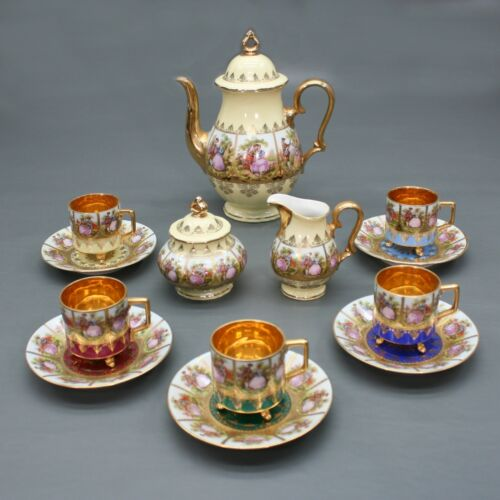 Vintage JKW Decor Carlsbad Tea Set Miniature Creamer Sugar Bowl Teapot Germany