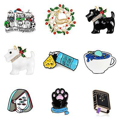 Cartoon Christmas Enamel Brooch Pin Shirt Collar Breastpin Women Jewelry Cheap (Christmas Cheap)