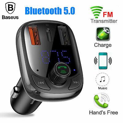 Baseus Bluetooth Wireless FM Transmitter 5A 2 USB Car Charge