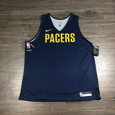 New Nike NBA Indiana Pacers Player Issued Team Practice Jersey Reversible Sz XXL