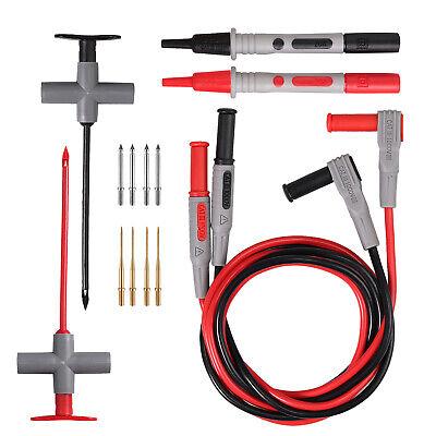 14in1 Multimeter Test Lead Kit Wire Piercing Probe Clip Fluke Meter Power