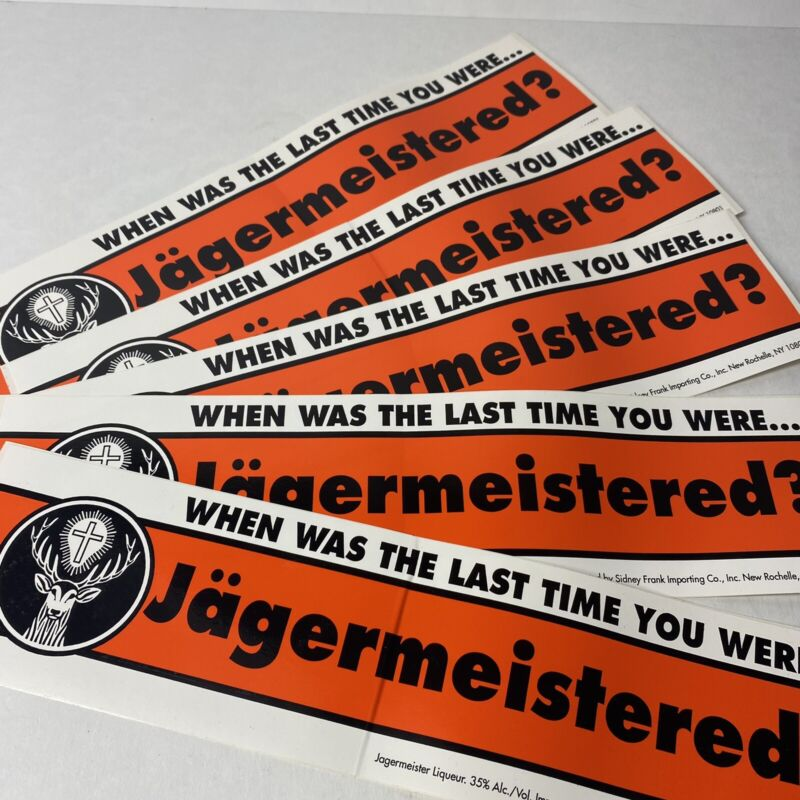 """Vintage Jagermeister Bumper Sticker 12.5"""" New"""