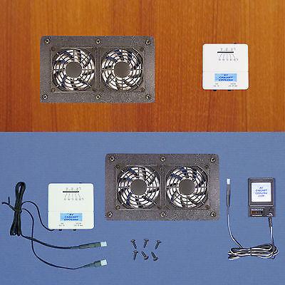 Equipment Cabinet/Desk AV multi-speed Cooling fans & adjustable thermostat