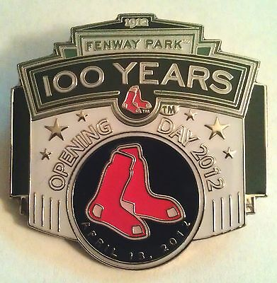 BOSTON RED SOX 2012 OPENING DAY FENWAY PARK 100 YEARS Lapel Pin white variation ()