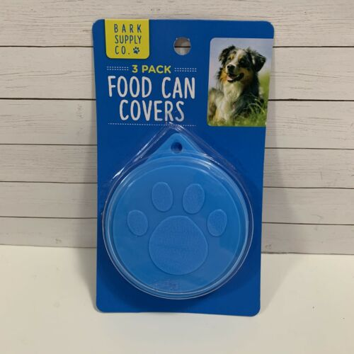 Pet Food Can Covers 3 Pack Blue