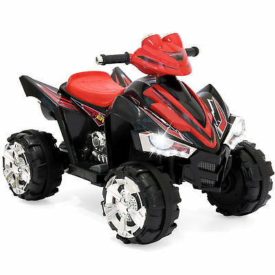 BCP 12V Kids Electric ATV Ride-On Toy w/ 2 Speeds, LED Lights, Sounds