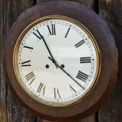 Antique Oak Railway Station School Clock Replacement Quartz Mechanism Battery