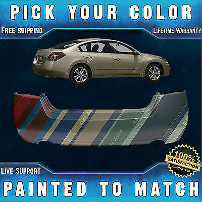 NEW Painted to Match - Rear Bumper Cover Replacement for 2007-2012 Nissan Altima