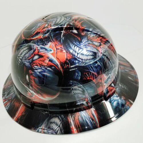 FULL BRIM Hard Hat custom hydro dipped VENOM SPAWN KILLER COLORS SUPER SICK 1